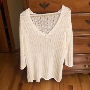 NWOT white summer knitted sweater dress or sweater